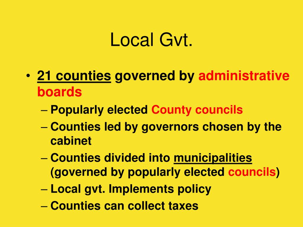 Local Gvt.