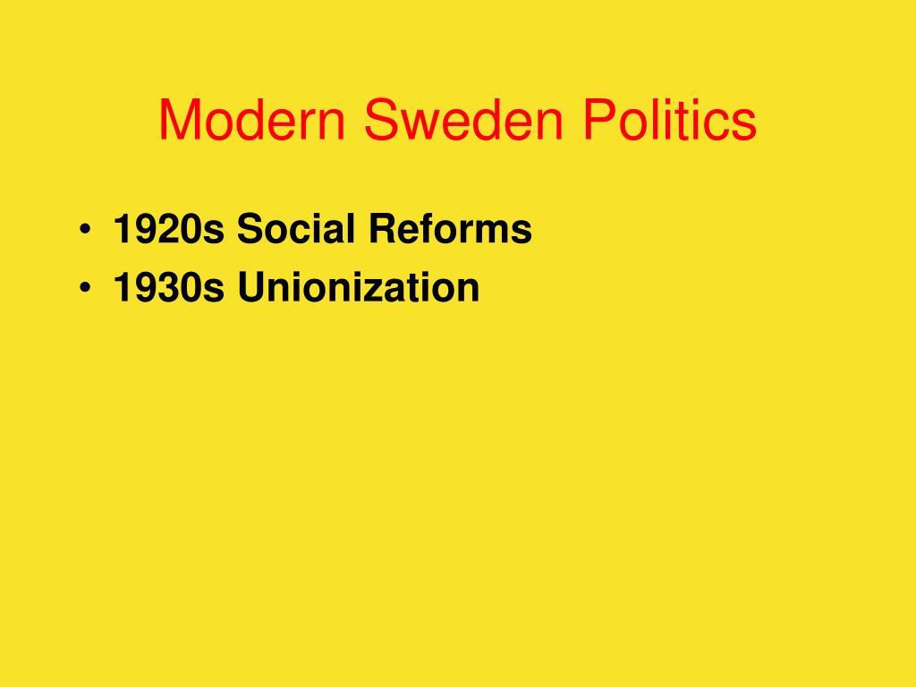Modern Sweden Politics