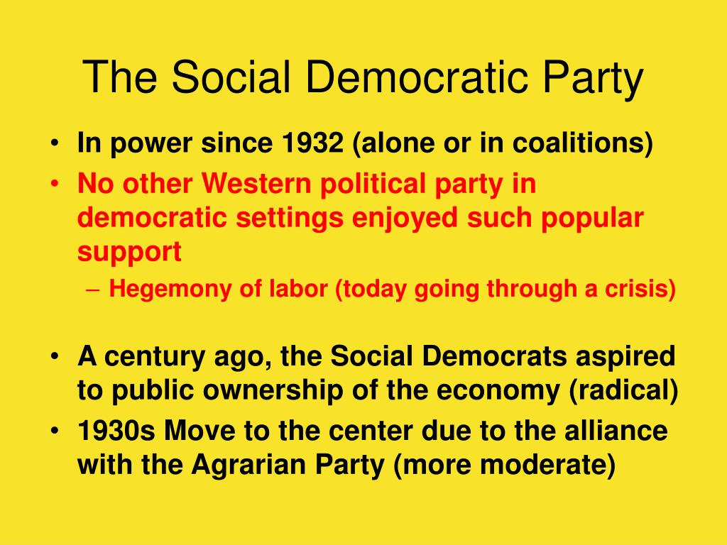 The Social Democratic Party