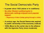 the social democratic party