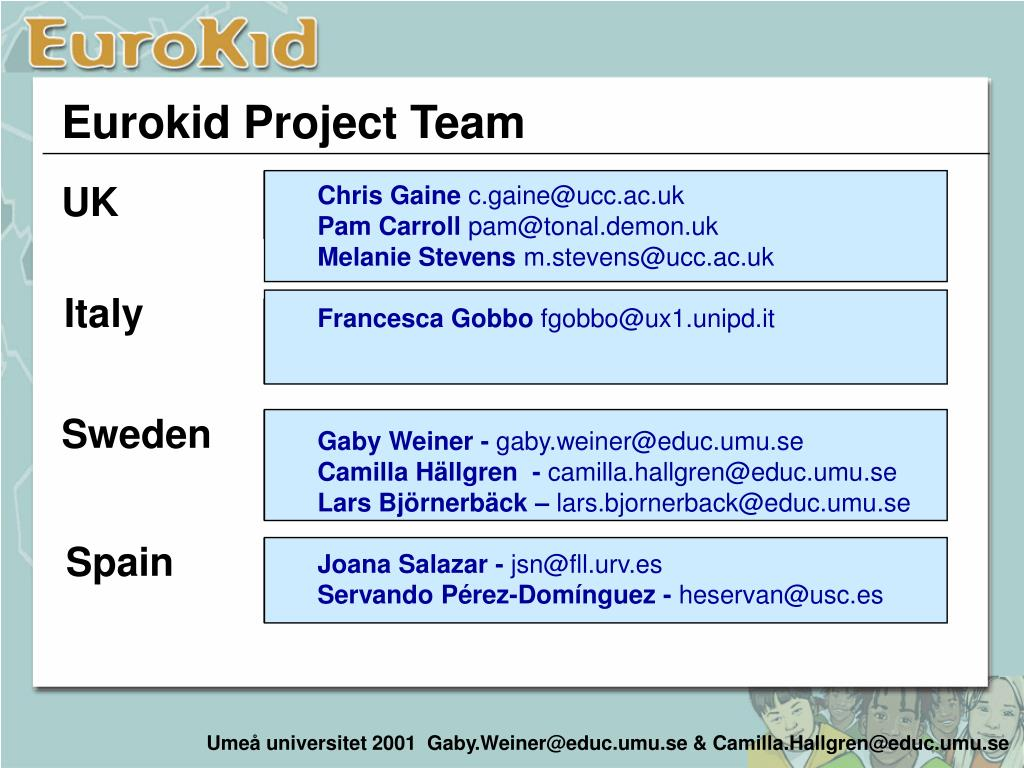 Eurokid Project Team