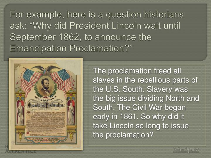 did lincoln issue emancipation proclamation essay Emancipation is quite a rare and popular topic for writing an essay,  did president lincoln issue the emancipation  lincoln issue the emancipation proclamation.