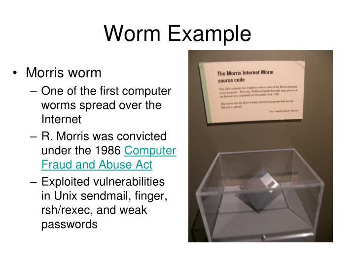 Worm Example