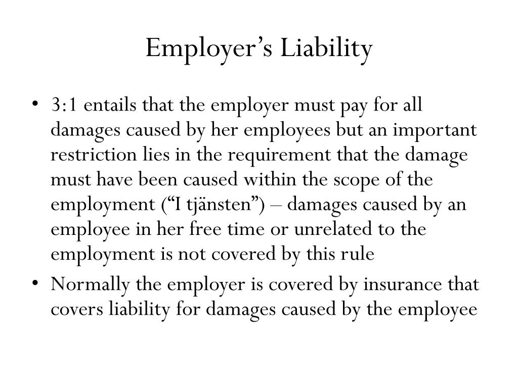 Employer's Liability