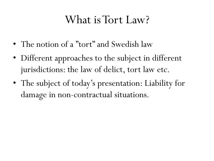 What is tort law