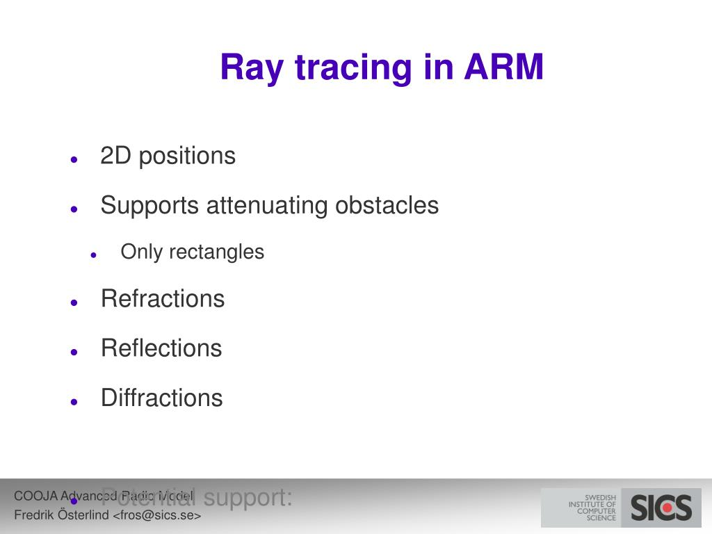 Ray tracing in ARM