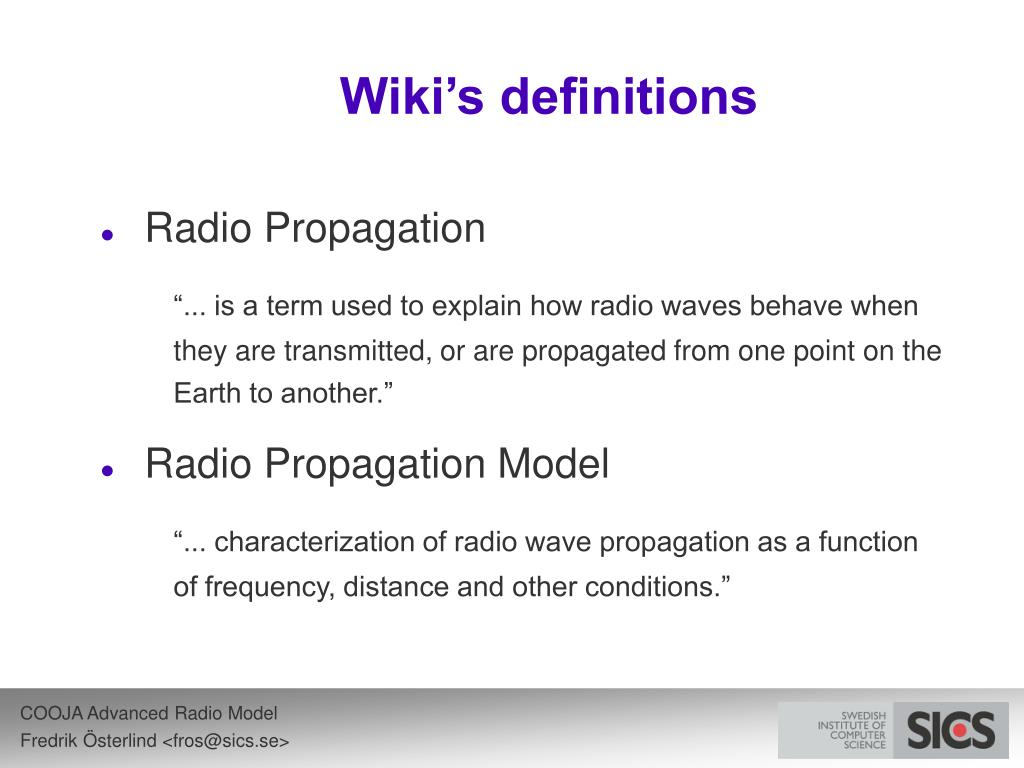 Wiki's definitions