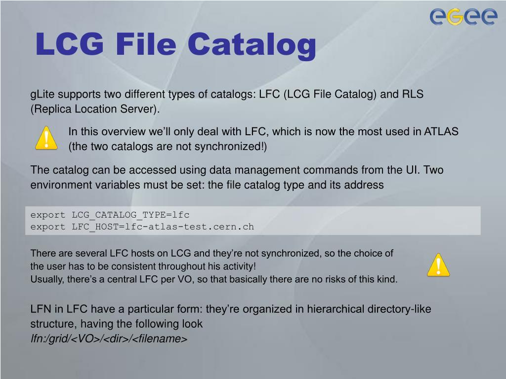 LCG File Catalog