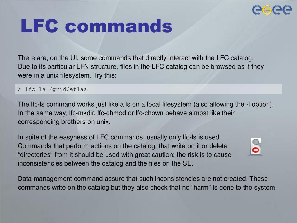 LFC commands