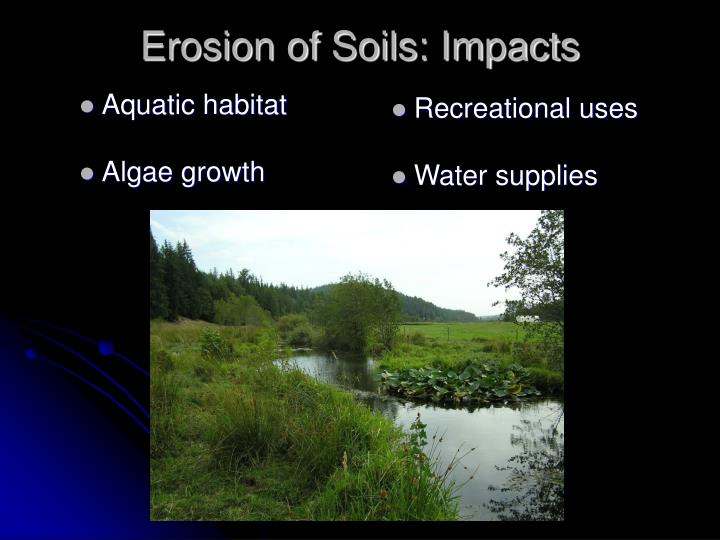 Erosion of soils impacts