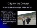origin of the concept