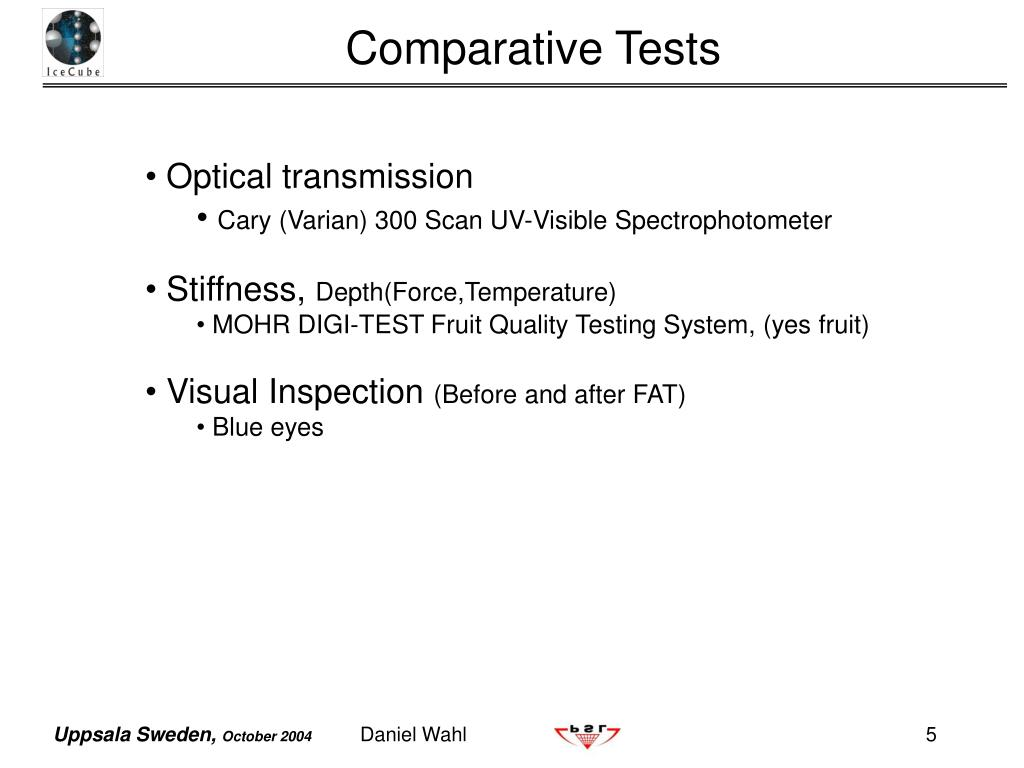 Comparative Tests