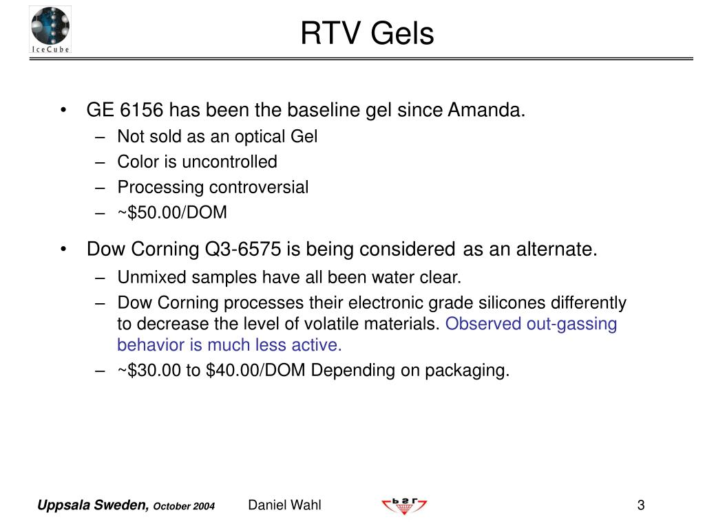 GE 6156 has been the baseline gel since Amanda.