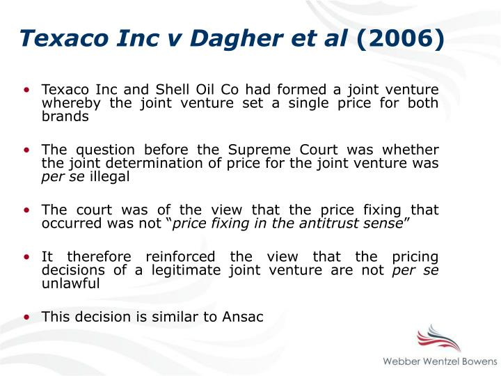 Texaco Inc v Dagher et al