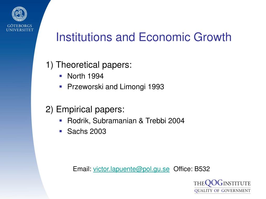 institutions and economic growth
