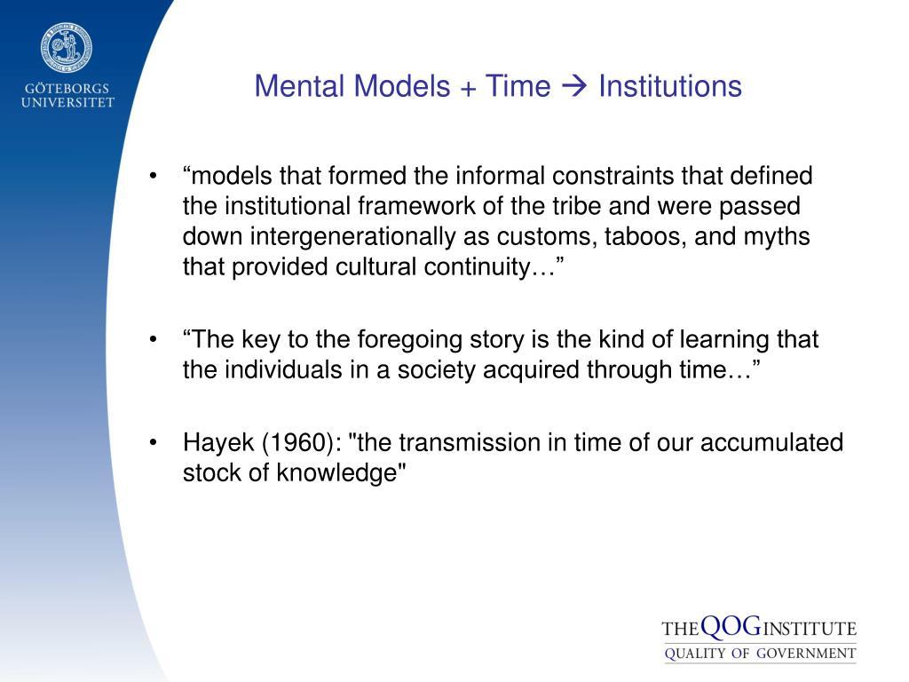 Mental Models + Time