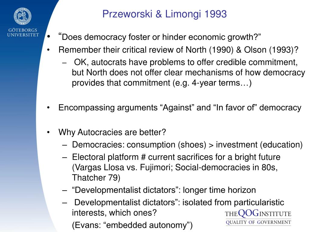Przeworski & Limongi 1993