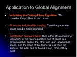 application to global alignment