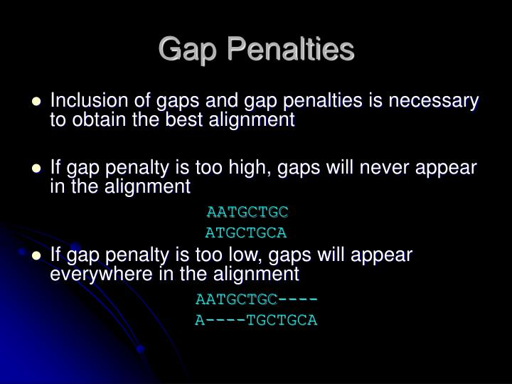 Gap Penalties