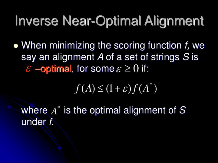 Inverse Near-Optimal Alignment