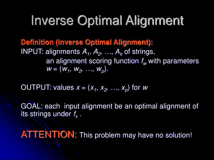 Inverse Optimal Alignment