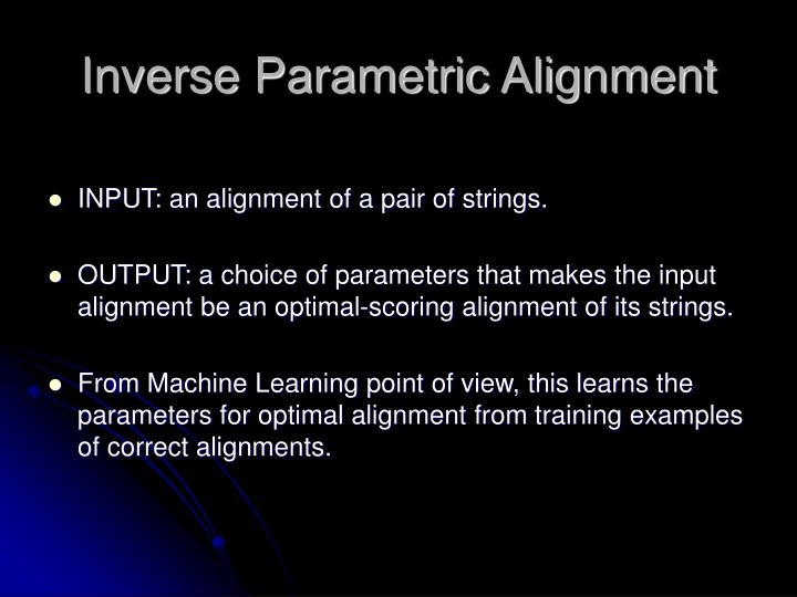 Inverse Parametric Alignment