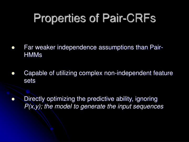 Properties of Pair-CRFs