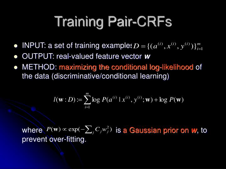 Training Pair-CRFs