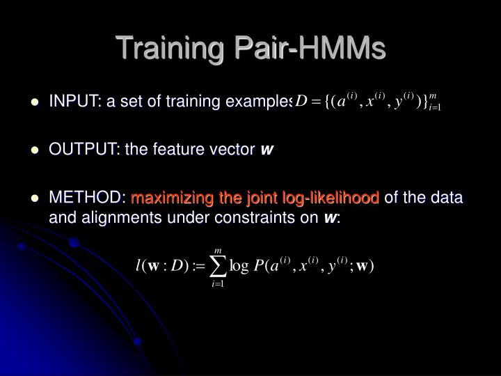 Training Pair-HMMs