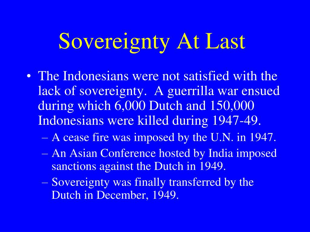 Sovereignty At Last