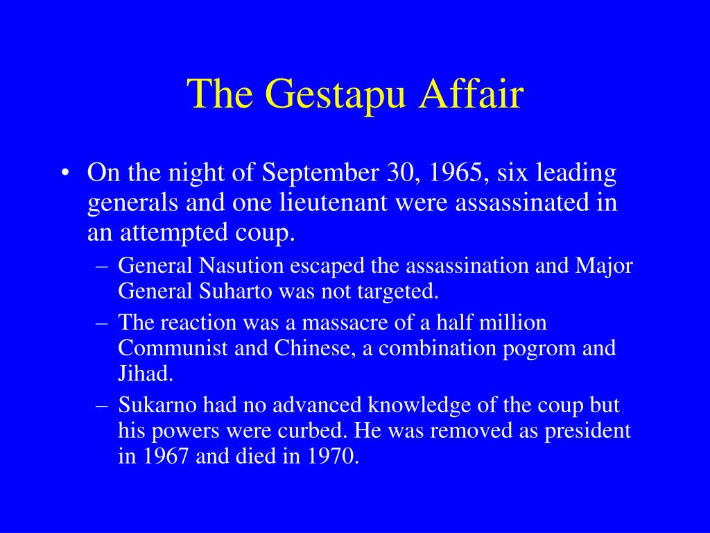 The Gestapu Affair