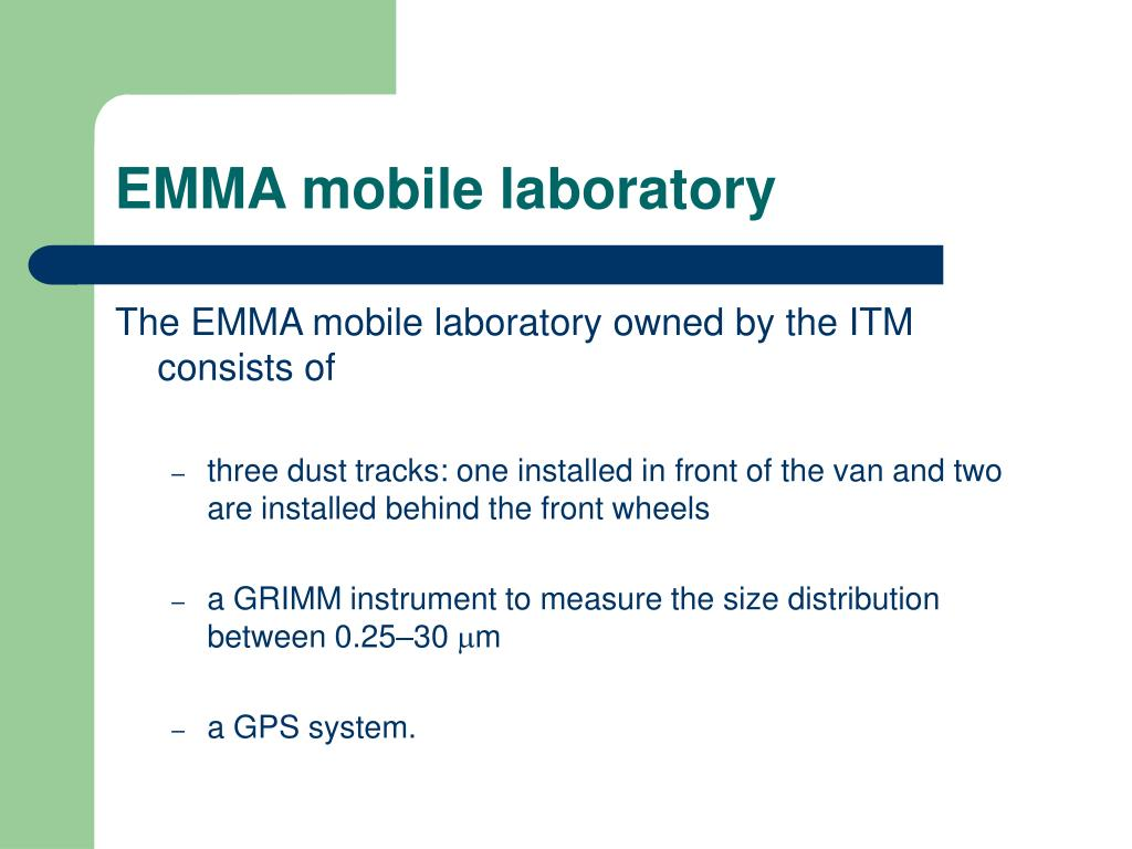 EMMA mobile laboratory
