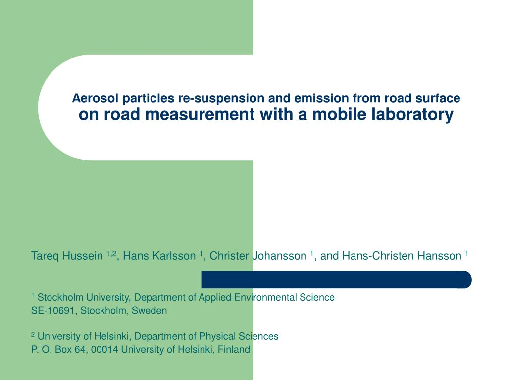 Aerosol particles re-suspension and emission from road surface