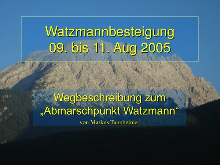 Watzmannbesteigung
