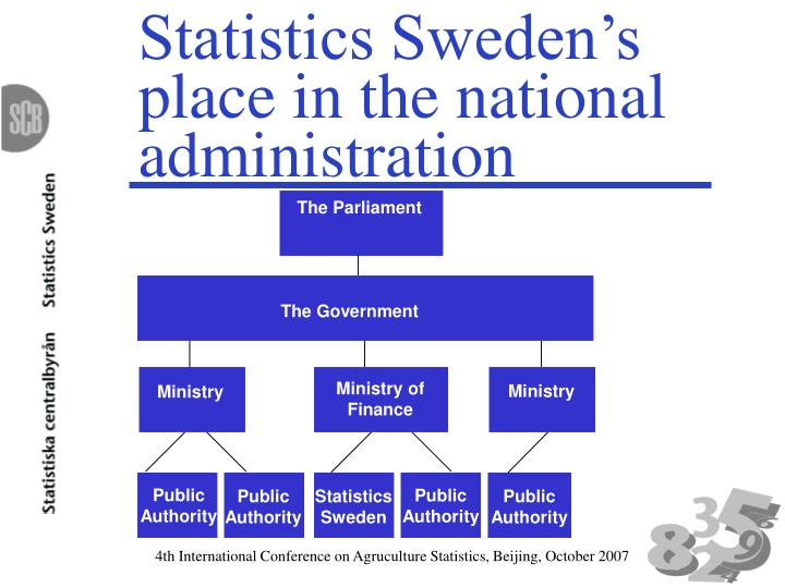 Statistics sweden s place in the national administration l.jpg