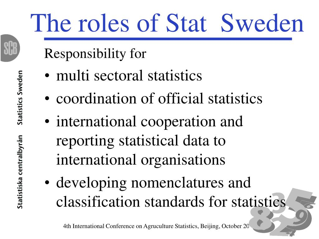 The roles of Stat  Sweden