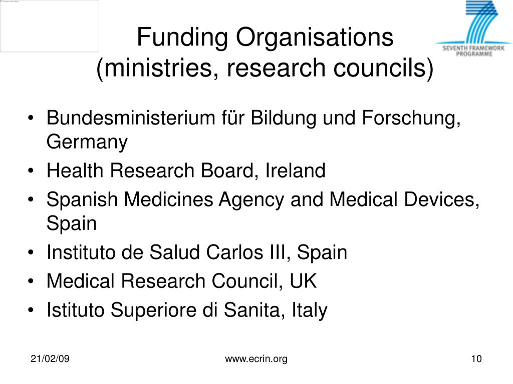 Funding Organisations