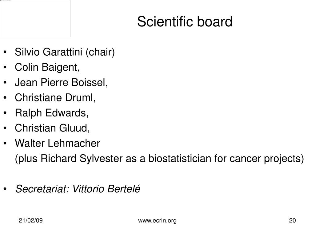 Scientific board