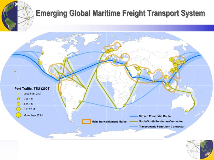 Emerging Global Maritime Freight Transport System
