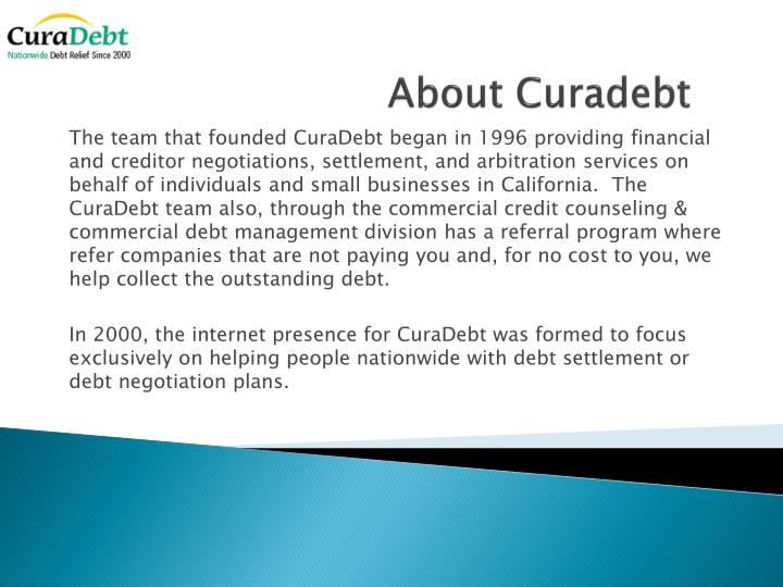 About curadebt