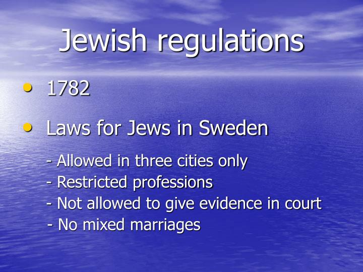 Jewish regulations