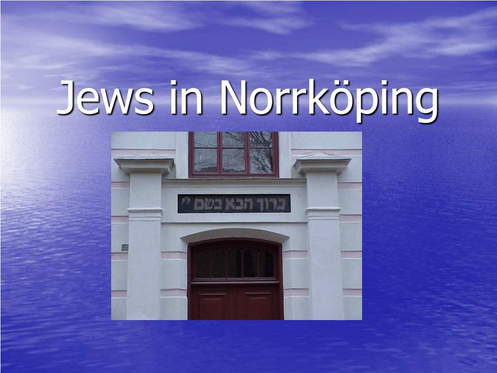 jews in norrk ping