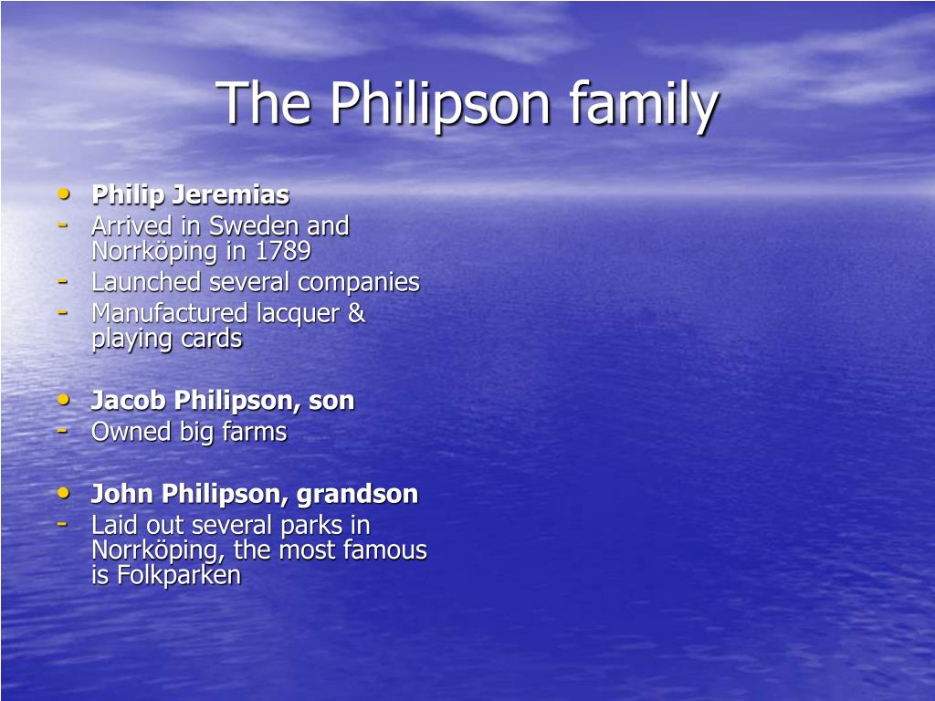 The Philipson family