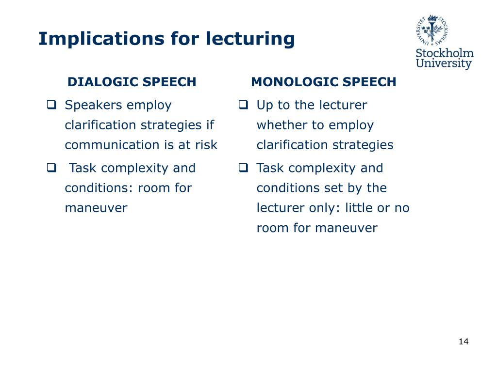 DIALOGIC SPEECH