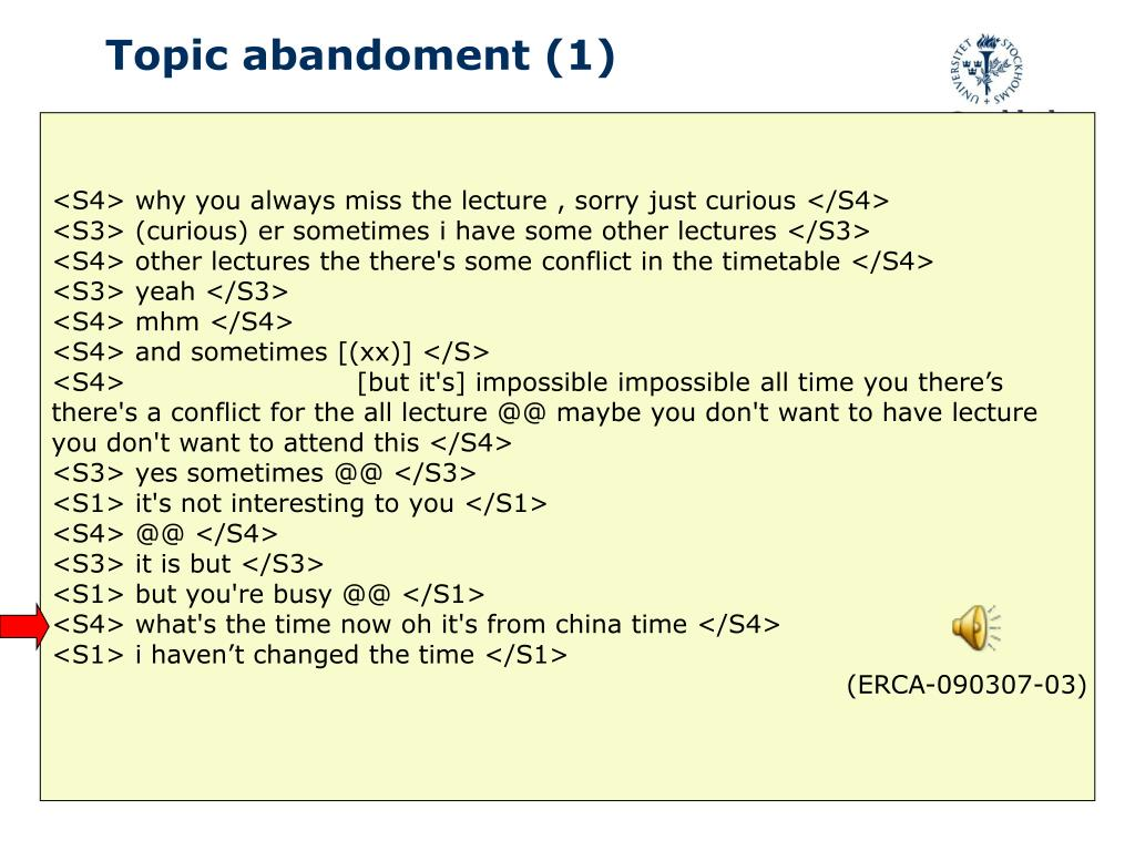 Topic abandoment (1)