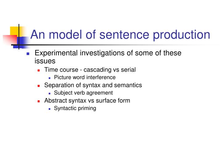 An model of sentence production