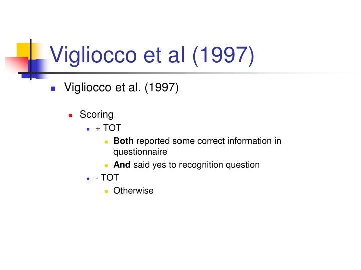 Vigliocco et al (1997)