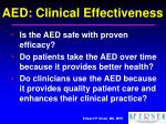 aed clinical effectiveness