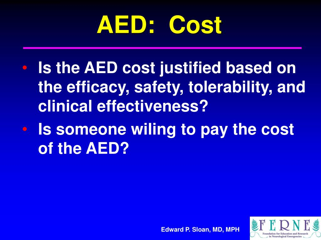 AED:  Cost
