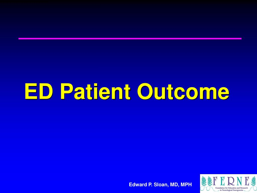 ED Patient Outcome
